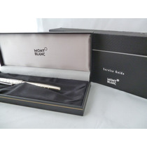 Lapicera Mont Blanc Rollerball Facet Platino