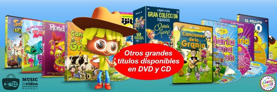 Otros titulos disponibles en DVD, CD y Bluray