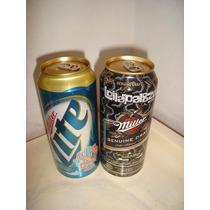 Latas Llenas Cerveza Miller Lollapalooza Set X2 Swqc
