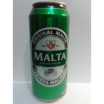 Lata De Cerveza Malta Oscura De Brasil Llena