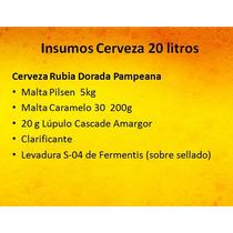 Kit Insumos Cerveza Artesanal 20 Litros