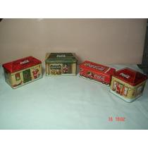 Lote De 4 Latas De Coca Cola Navidad Año 2000,