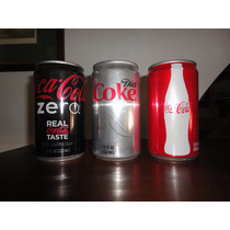 Coca Cola X 3 Latas Chicas Avion Clasica Diet Light Zero Usa