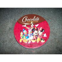 Vieja Lata De Chocolate Disney Mide 13 Cm De Diametro