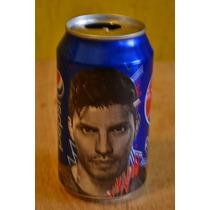Lata Gaseosa Vacia Pepsi Con La Cara Del Kun Aguero 354 Ml
