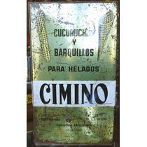 Antigua Lata Cucuruchos Y Barquillos Cimino. 18174