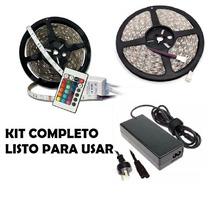 Kit Tira Led Rgb 10 Metros 5050 Controladora Y Fuente 12v 6a