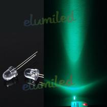 Led 8mm Verde Alto Brillo Alta Luminosidad X50 Unidades