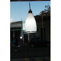 Lámpara Colgante Difusor Blanco Acero Inoxidable P/ Living