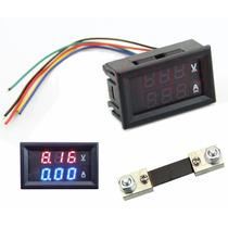 Voltimetro + Amperimetro Digital Cc 100v / 100a Envío Gratis