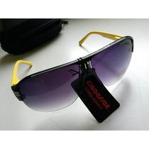 Gafas Anteojos De Sol Nuevos Carrera Amarillos Y Negro C/stu