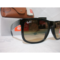 Lentes Ray Ban Rb 4165 Justin Marco Negro Brillo