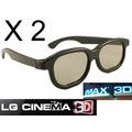 2 Lentes 3d Pasivos Para Led Lg Cinema,imax ( No Ag F310 )