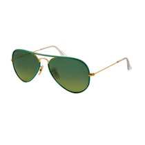 Anteojos Lentes Ray Ban Rb 3025 Jm 001/3m Full Green 50%0ff