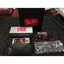 Lentes Ray Ban Erika Rb 4171 54mm Medium Carey Negro Rojo