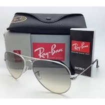 Ray Ban Aviator 003/32 Plateado Gris Degrade