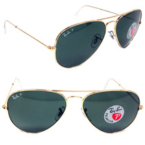 Anteojos Ray Ban Aviator Rb3025 Polarizados Originales