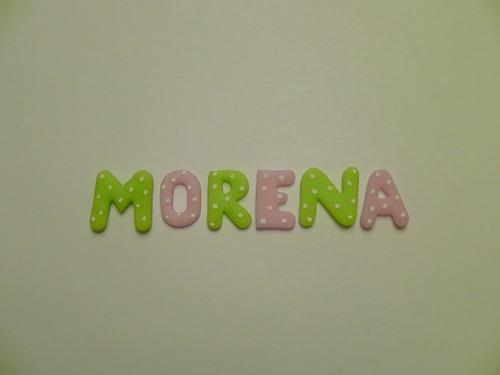 Letras En Porcelana Fria Miniaturas Apliques Palabras
