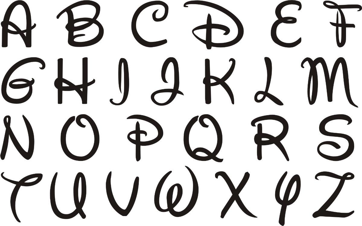 fuentes letras disney: