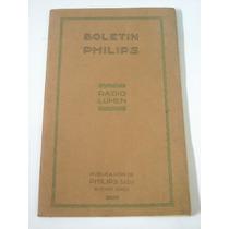 Antiguo Boletin Philips Radio Lumen # 3 Año 1928