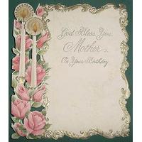 Antigua Tarjeta Importada Dia Madre Usada Labrada Velas