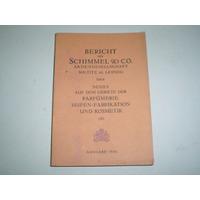 Catalogo 1936 Schimmel & Co Perfume Cosmetica Informe Molde