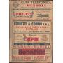 Libro Guia Telefonica De Mendoza Edicion Oficial 1960