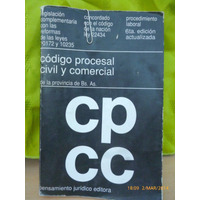 Codigo Procesal Civil Comercial,provincia Bs As