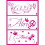 Vinilos!!!! Nombre Decorativo Para El Cuarto De Tu Bebé!!!