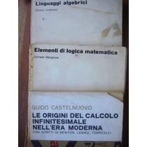 Lote X3 Libros De Calculo, Algebra Y Lógica En Italiano