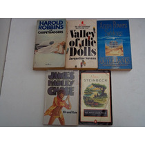 5 Libros Inglés Steinbeck Robbins Sussan Siddons Chase