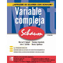 Variable Compleja 2da Ed. Schaum Spiegel. Libro Digital