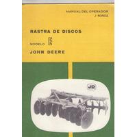 Libro / John Deere / Rastra De Discos / Modelo E / J 50502