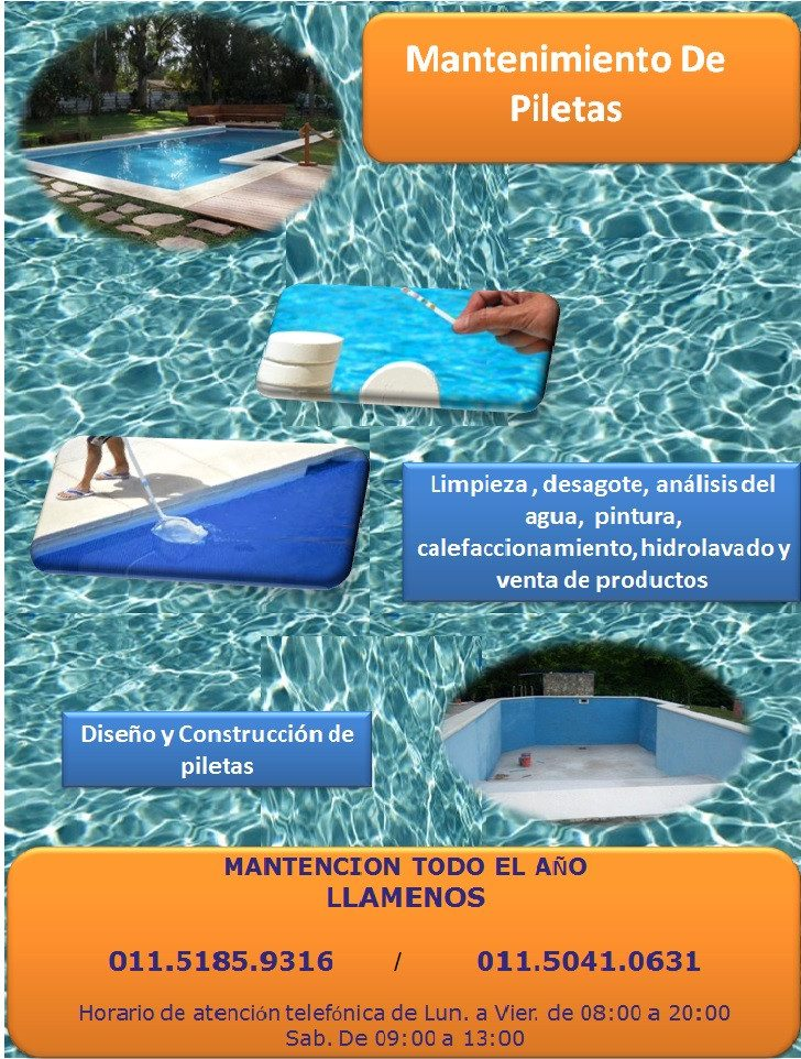 Limpieza y mantenimiento de piscinas zona norte san for Mantenimiento de piscinas