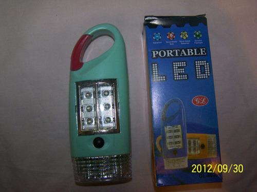 Linterna 3 Leds+luz Emergencia 6 Leds+baliza Destelladora V/
