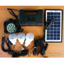 Kit Solar Portatil Camping Hogar Carga Celulares Linterna