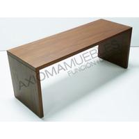 Mesa Ratona Puente Melamina Diseño Minimalista Axiomamuebles