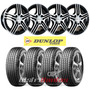 Kit 4 Llantas 13 Hellion + 4 Neumaticos Dunlop 175/70 R13