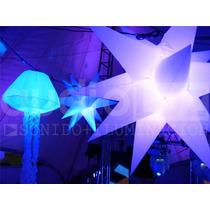 Inflables Led Rgb Estrella Medusa Esfera Ir Rf Dmx Control