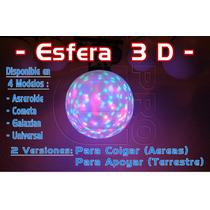 Bola, Globo O Esfera 3d De 45 Cm Leds Rgb / Rayos Hi-power