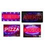 Cartel Luminoso Led Resistentes!!!. Kiosco, Abierto Y Otros.