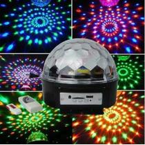Bola Led Cristal Mágic Ball Con Pendrive Y Control Remoto.