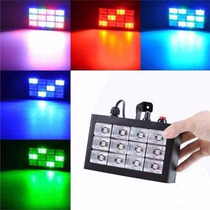 Flash Led Audioritmico Rgb 12 Leds (3w) Dj Fiesta Strobe Luz