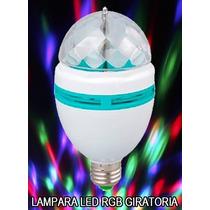 Lámpara Leds Rgb Giratoria Bola Multicolor Excelente Oferta!
