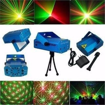 Mini Laser Audioritmico - Efecto Lluvia Estrellas Verde Rojo