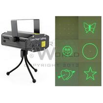 Mini Láser Audiorítmico Verde Y Rojo 6 Figuras (6b) Luces Dj