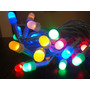 Luz Led Navidad Multicolor 40 Leds 4 Metros Cable Blanco