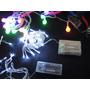 3 Guirnaldas Luces Blancas De Navidad A Pilas. Leds. 3.5 Mts