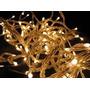 Tira De 100 Luces De Navidad Arroz Blanca Cálida