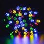 Tira De Navidad Solar - 200 Leds Multicolor - 22mts Navideña
